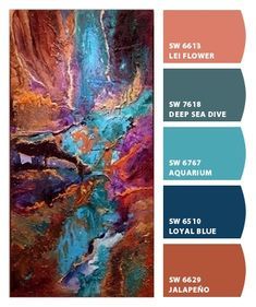 Color Schemes Colour Palettes, Paint Color Schemes, Colour Pallette, Color Combos, Artist Color, Acrylic Pouring Art, Paint Colors For Home, Pour Painting, Colour Board