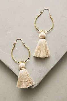 Moon Tassel Hoop Earrings