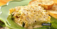 Alfrede Chicken & Asparagus Lasagna Roll Ups