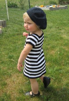 This simple little t-shirt dress could hardly be easier to make. It