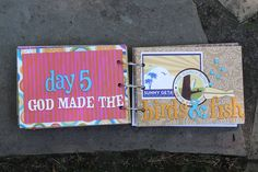fun craft for kids and helps them remember all what God created