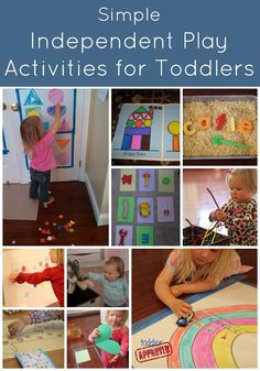 Keep those little people busy with these fun activities. Via Toddler Approved!: Simple Independent Play Activities for Toddlers