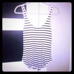 ⚡️Worn ONCE⚡️Rag & Bone Striped Tank This is very nearly 'like new' - I wore it once  only to realize I wished I'd bought one size larger. If u don't own any R&B cotton tees/tanks You have no idea what you're missing‼️ as shown on Pic 4's screen shot - this tank has Sold OUt retailing for 115.00 - pic 4 also has garment description⚡️ trades. Ever. Like ever ever‼️ ↘️@♏️ rag & bone Tops Tank Tops