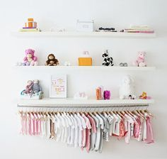 ModernEve_NurseyCloset (perfect closet idea if there is not much space!!)