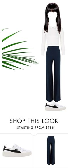 """Untitled #51"" by ellenvinther on Polyvore featuring Puma, Roland Mouret and Topshop"