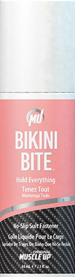 Bikini Bite. Superior holding power, yet gentle to the skin. Perfect for bikini competitions, works on other garments too.