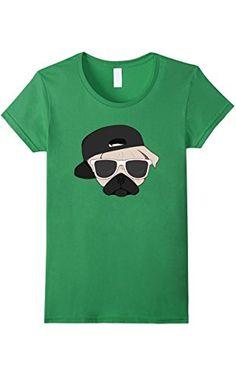 Women's Pug Shirt | Thug Pug T Shirt | Pug Life Shirt Medium Grass ❤ VSDS