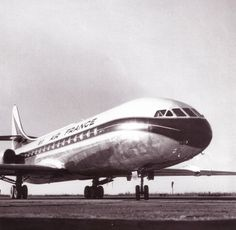 Caravelle d'Air France in the 1970's.
