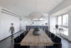 love the white, grey, silver + natural wood :: apartment interior by lanciano deisgn (contemporist)