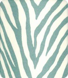 Maybe Settee fabric...OD Zebra Skin in Aquamarine