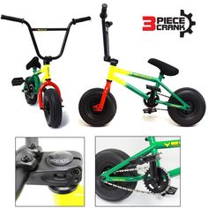 """Rasta"" 3 Piece Crank 2015 Bully 10"" Mini BMX Newest Model Trick Bike http://jj2.in2cpa.com/bmx-bikes/?asin=B00WFG4ORM"