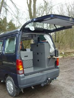 Suzuki Carry Van Military Car, Military Vehicles, Honda Van, Micro Campers, Suzuki Every, Kei Car, Car Camper, Camper Van Conversion Diy, Outdoor Life