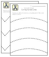 Scissor Skills Worksheets for Kids