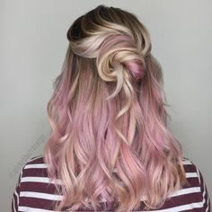 Violet Tinted Blonde Long Hair making are easier with 3 barrel curling iron
