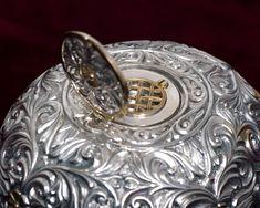 Silver oval shape Reliquary. Height: 12cm, base diameter: 14cm. #byzantine art#, #religious item#, #silver#,#reliquary#, #handmade item# Byzantine Art, Oval Shape, Base, Silver, Handmade, Hand Made, Handarbeit, Money