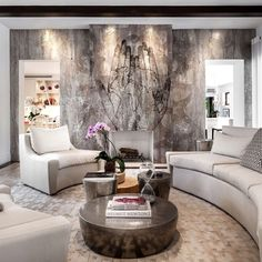 Amazing fireplace art panels created by ALEX TURCO / handmade in aluminum and epoxy resin / check out Zen Living Rooms, Living Area, Fireplace Art, Interior Decorating, Interior Design, Mural Wall Art, Panel Art, Luxury Living, Art Decor