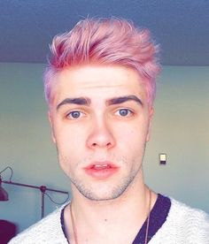 Ending - pink hair, don't care. Hair Lights, Mens Hair Colour, Hair Color, Pink Hair Guy, Guys With Pink Hair, Pelo Guay, Hair Inspo, Hair Inspiration, Hair And Beard Styles