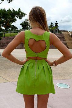 heart cut-out dress.(: