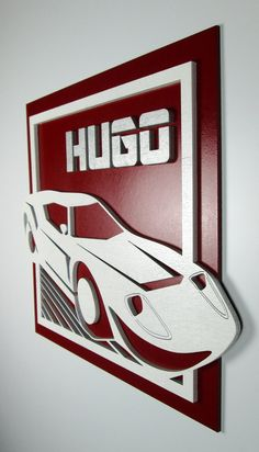 Personalized Laser Cut Race Car Name Sign for by BadMaxStudios, $39.00