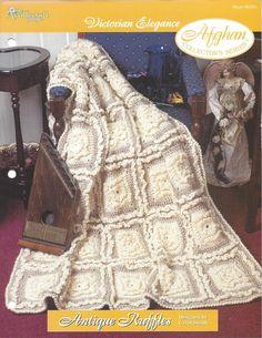 Crochetar Avó Praça Vitoriana Afegão itens decorativos Criações -  /    Crochet Granny Square Victorian Afghan Knacks Creations -