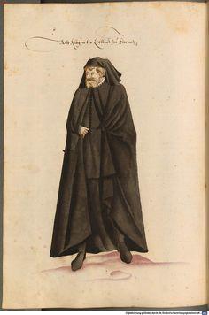 Trauerkleidung der Edelleut zu Florenz um 1577