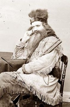 Seth Kinman .Legendary trapper Calif.Captured grizzlies & made chairs.Known for brutality toward bears & indians. Gave Pres.Lincoln Elk chair. 1815-1888