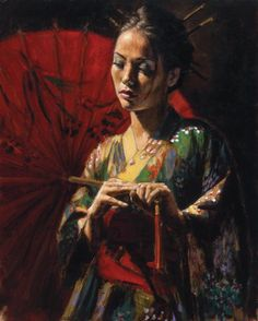 by Fabian Perez ((my aunt has this print in her house)) <3