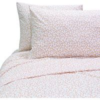 This Seaside Rendevous 4 piece Coral Reef Queen Sheet Set features a branch coral print and includes one 90'' x 102'' flat sheet, one 60'' x 80''  15''D fitted sheet and two 20'' x 30'' standard pillowcases. Machine wash cold, tumble dry low.