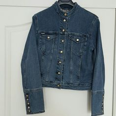 Burberry Jean Jacket 100% Authentic. Very good condition. Comes with the Burberry hanger. Burberry Jackets & Coats Jean Jackets