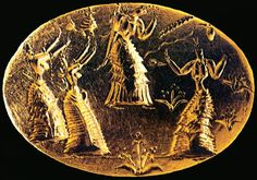 "paperthinfancies: "" Minoan gold signet ring. """