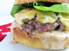 burger de noël, sauce foie gras et steak de canard