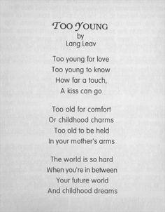 Too Young - Lang Leav