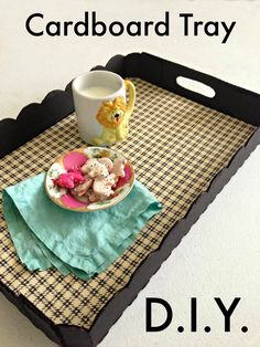 WhiMSy love: DIY: Cardboard Tray                                                                                                                                                     More