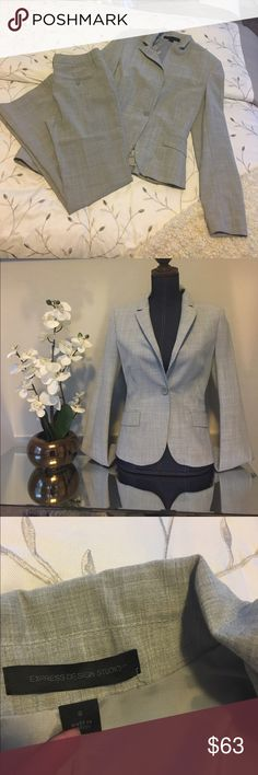 Express Editor light gray business suit Great condition size4 jacket size 2 pants. Mix and match perfect for the working classy lady. Express Other
