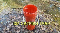 DIY Homemade Five Gallon Bucket Catfish Trap Throat Diy Fishing Bait, Frog Fishing Lure, Gone Fishing, Best Fishing, Fishing Tips, Fishing Lures, Fishing Stuff, Catfish Trap, Catfish Fishing