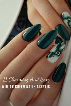 Nagellack Design, Nagellack Trends, Green Nails, Pink Nails, Kylie Nails, Fall Acrylic Nails, Grunge Nails, Nail Polish Trends, Oval Nails