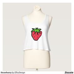 Strawberry by ElhaDesign Women's Bella Flowy Crop Tank Top