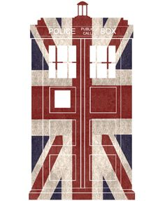 union flag TARDIS - this would make an awesome shirt!