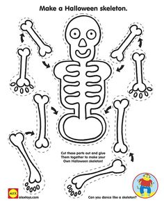 Halloween #Printable: Skeleton Craft | alexbrands.com