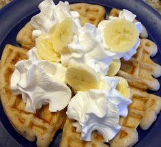 Recipe Snow Day Banana Waffles by Beyer Beware - Petit Chef. Made this for staff breakfast. Always a big hit!