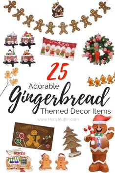 I've always been partial to candy and gingerbread themed holiday decor. Check out these 25 adorable gingerbread themed home decor items! Christmas Gift Guide, All Things Christmas, Christmas Home, Christmas Holidays, Christmas Crafts, Christmas Decorations, Christmas Activites, Christmas Ideas, Christmas Inspiration