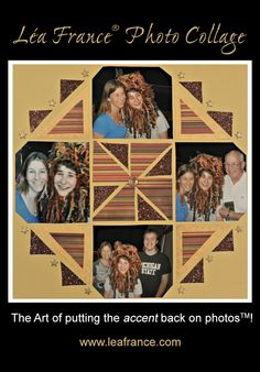 Photo Collage Created by Jacquie, Lea France designer using Stained Glass.