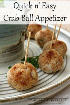 This crab ball appetizer is an easy recipe using Kraft Stove Top stuffing as the filler. It is a quick appetizer to make for parties or a delicious snack for anytime.