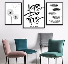 Canvas Wall Decor, Home Decor Wall Art, Canvas Art Prints, Painting Quotes, Quote Paintings, Modern Wall Paint, Types Of Art Styles, 3 Piece Wall Art, Nordic Art