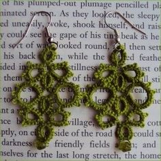 Ok what the heck is tatting and how do I learn how to do it.  This is awesome. Tatted earrings.