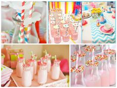 Vintage Milk and Cookies Birthday Party Theme : Favor Couture #birthday #party #favors http://favorcouture.theaspenshops.com/personalized-milk-favor-jar.html