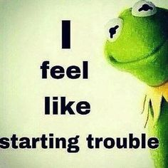 Feeling awfully ORNERY this morning. #Kermit