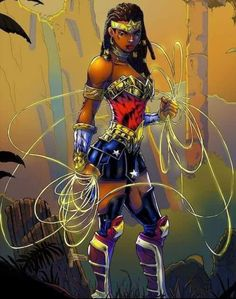 Wonder Woman Corset of the greatest female superhero of all time distinctive elegance attires this kind of apparel looks inspiring and charming with creative designs. Black Love Art, Black Girl Art, Art Girl, Marvel Fanart, Marvel Dc, Black Cartoon, Cartoon Art, African American Art, African Art