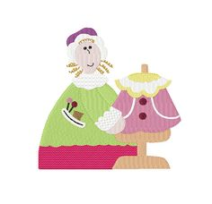 Dressmaking GRANNY  Filled Machine Embroidery by TedandFriends