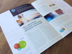 Professional brochure layout for a business analyst by StockLayouts